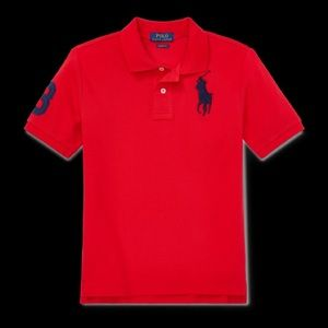 NWT Polo Ralph Lauren Big Boy Polo Shirt Red